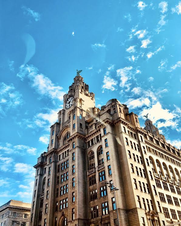 Liver Birds Liverpool Sky