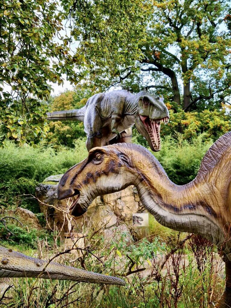 We tried the dinosaur walk through as part of our West Midland Safari Park review