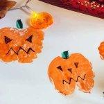 Apple Print Pumpkins