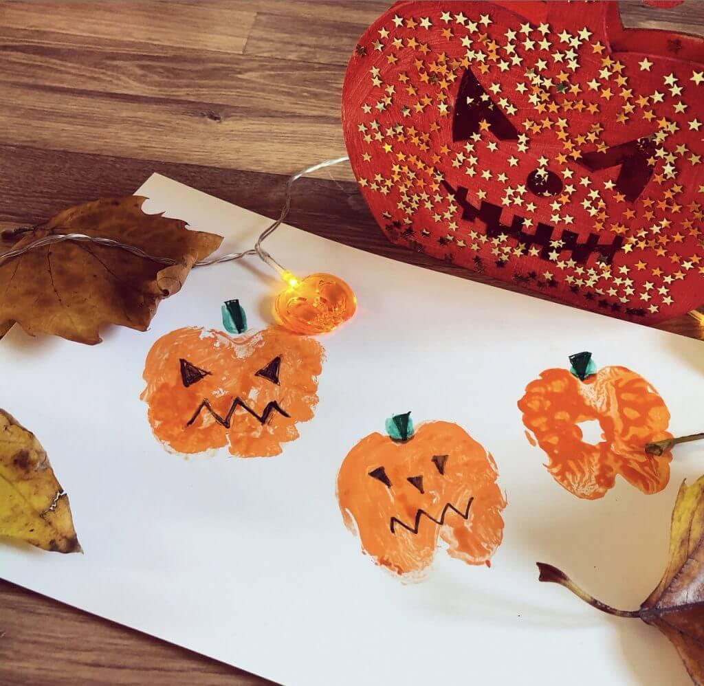 We Love Our Apple Print Pumpkin