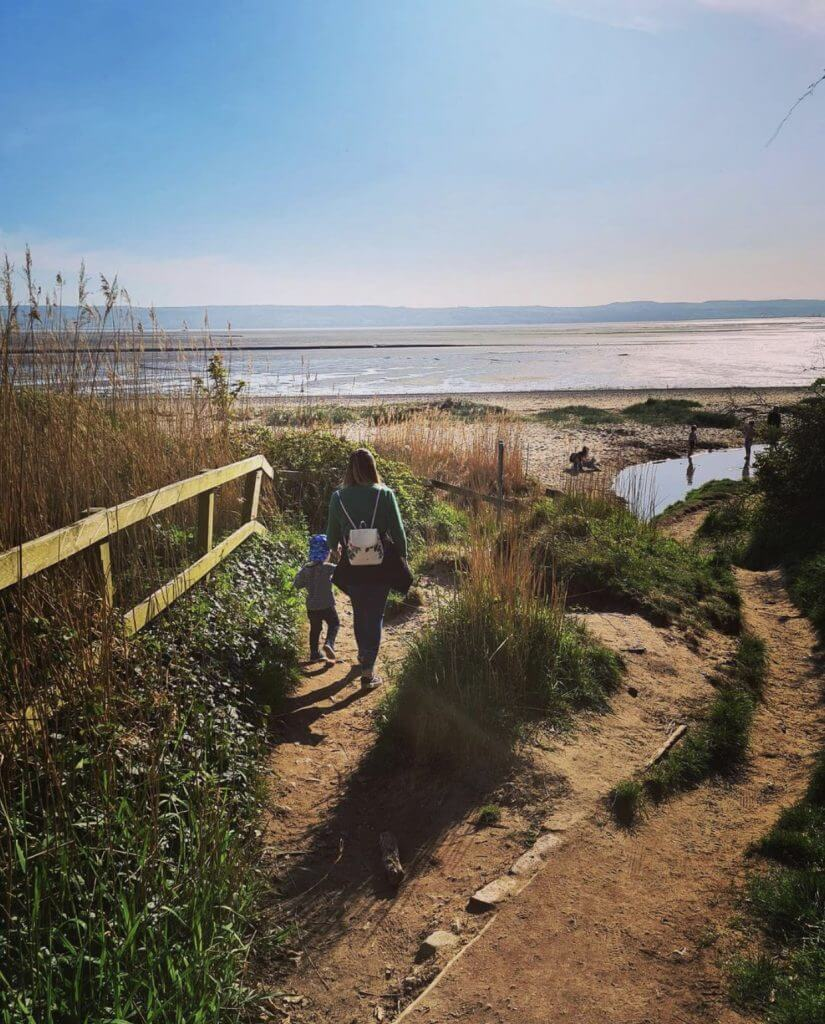 Thurstaston Beach is a popular walking routes in Wirral