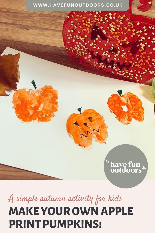 Tutorial   Apple Print Pumpkins! A Simple Autumn Activity for Kids