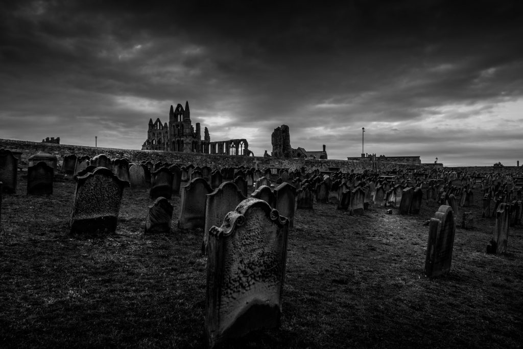 Whitby Abbey at Halloween