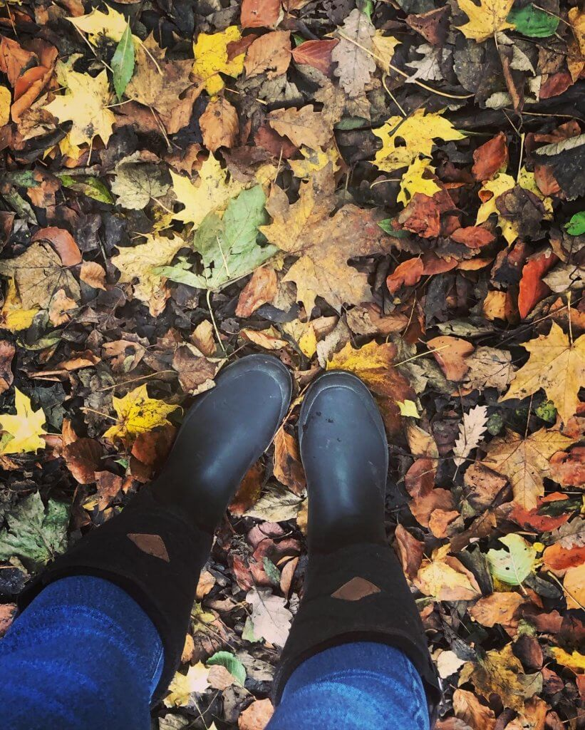 Wellies are essential when attempting bushcraft for kids
