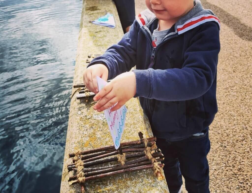 Boat Making, A fun, outdoors activity for toddlers