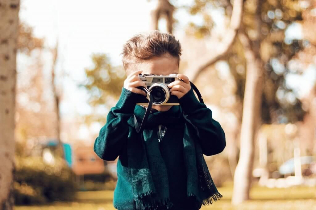 Toddler Taking Photo