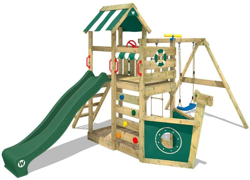 Wickey Wooden SeaFlyer Jungle Gym Climbing Frame