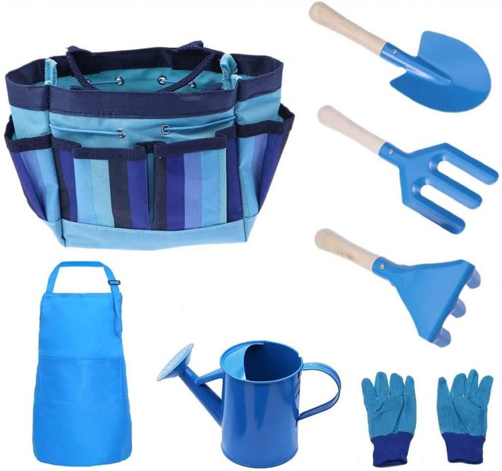 7 Piece Gardening Set For Children