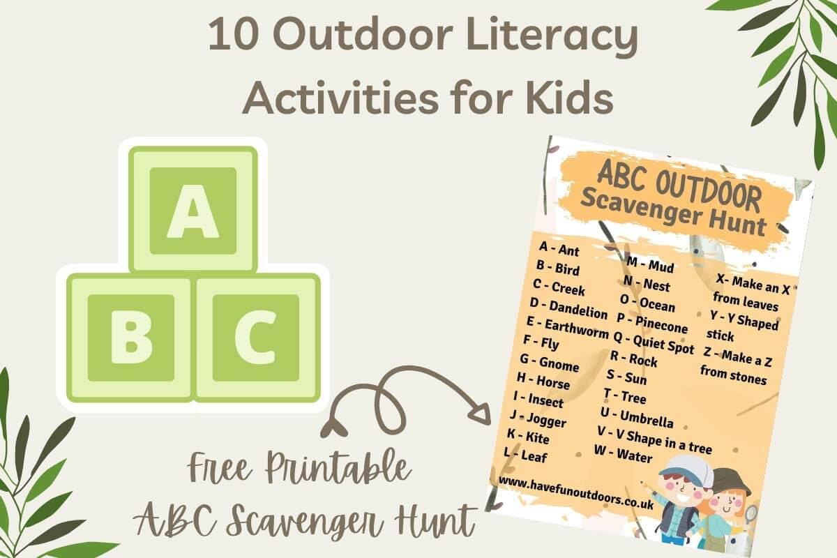 Outdoor Literacy Activities for Kids