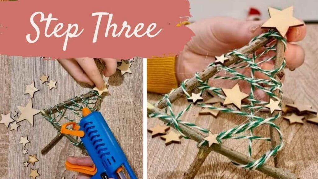 Step Three Christmas Tree Twig Craft