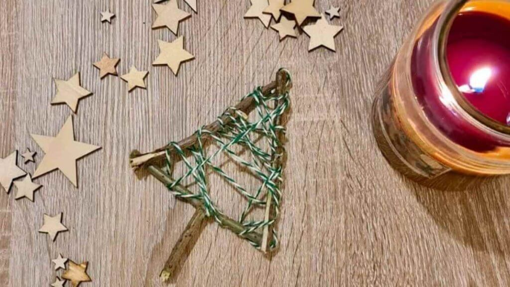Step Two Christmas Tree Twig Craft