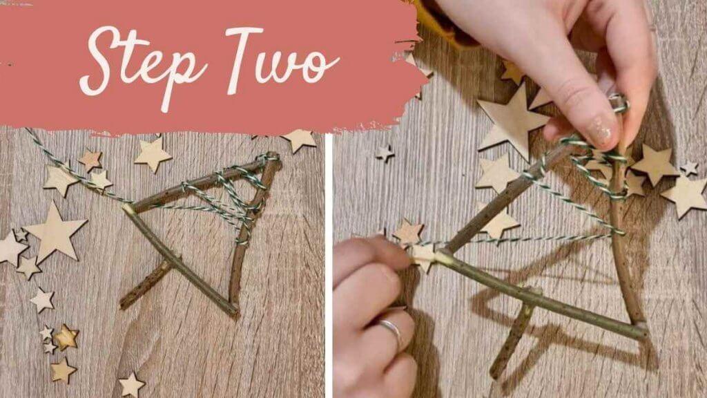 Step Two Twig Christmas Tree