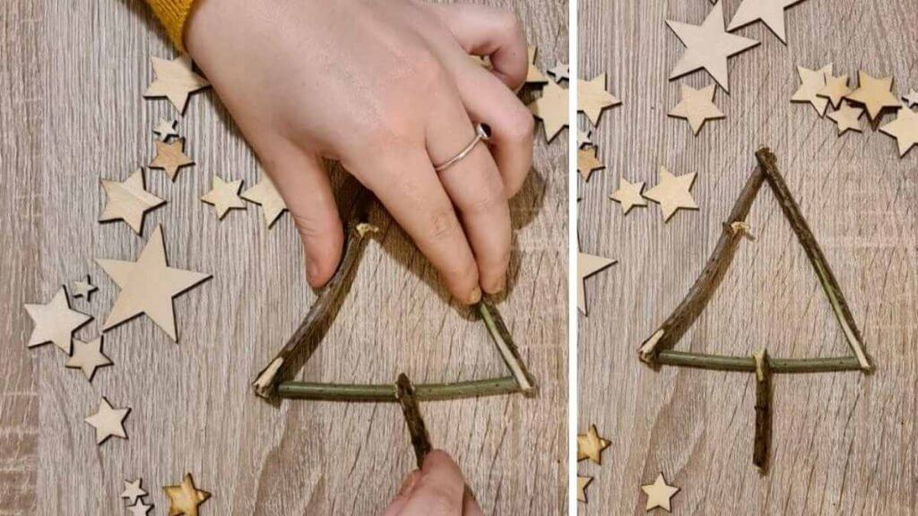 Twig Christmas Tree Craft