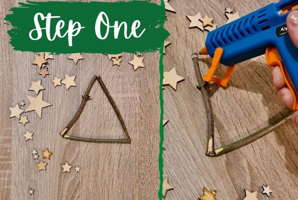 Step One Twig Christmas Tree Craft