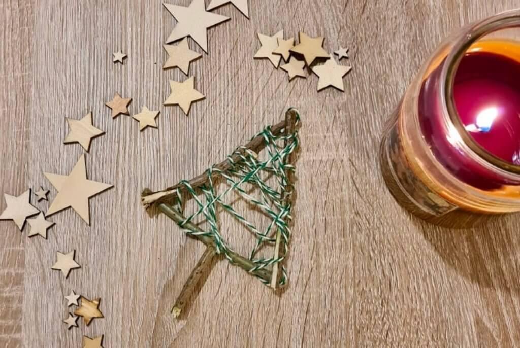 Step Two Twig Christmas Tree Craft