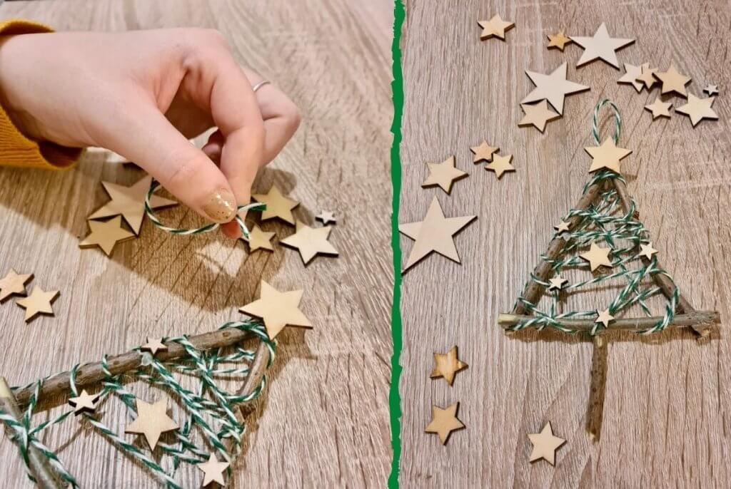 Step Three Twig Christmas Tree Craft