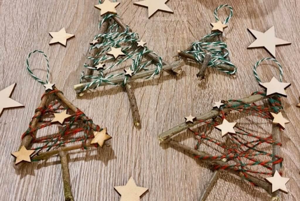 Twig Christmas Tree Decoration