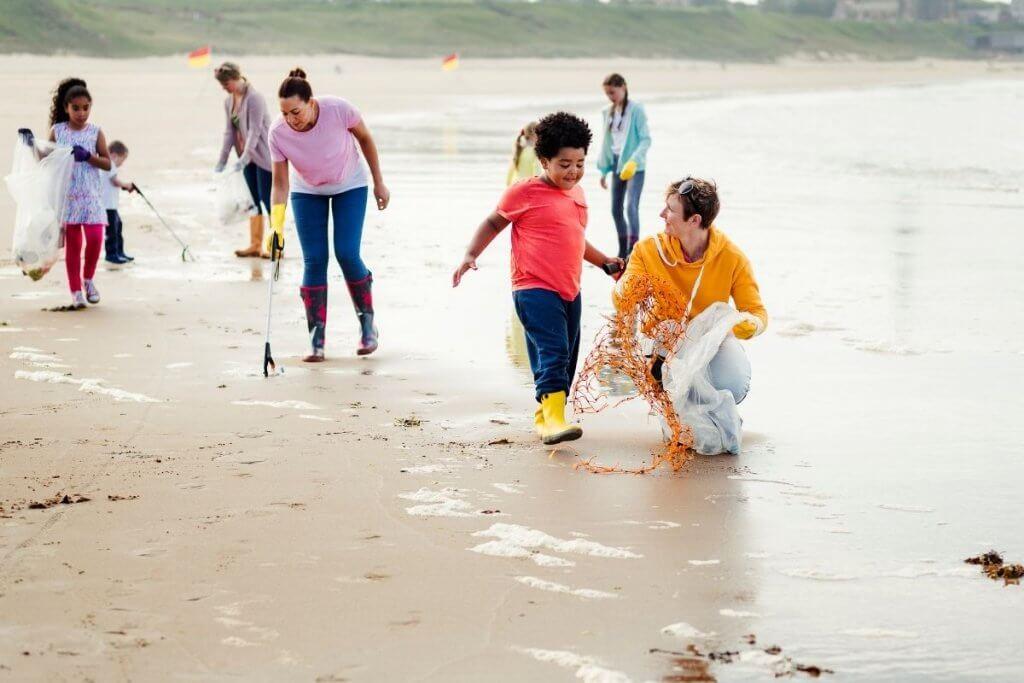 Litter Picking Beach Schools