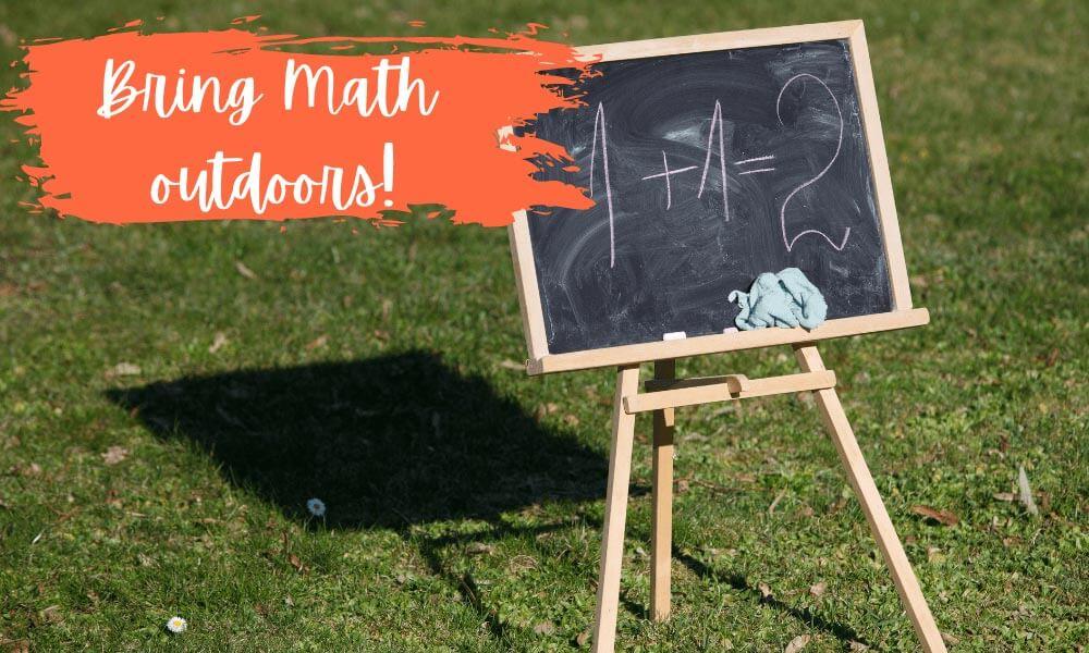 Bring maths outdoors