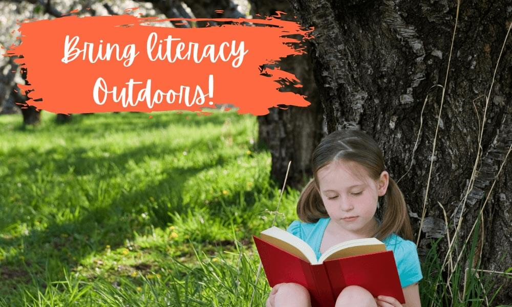 Outdoor classroom reading space