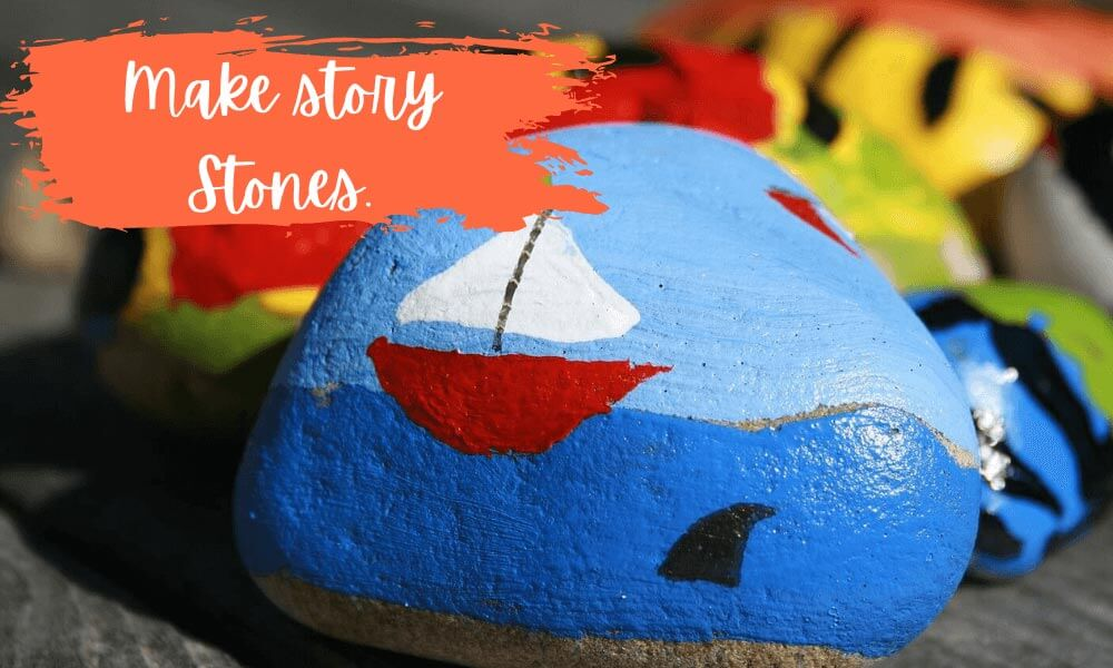 Make story stones for your outdoor classroom