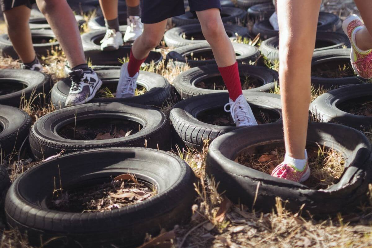 Army Themed Outdoor Obstacle Course For Kids