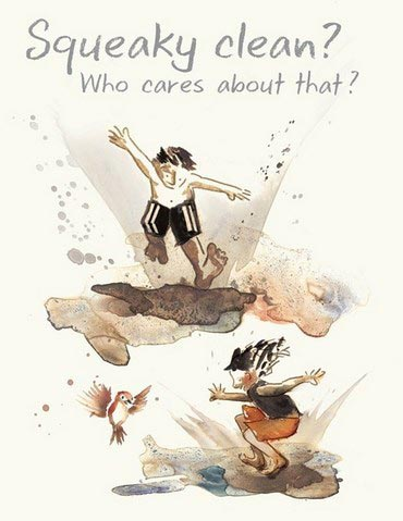 Run Wild nature book for children, David Covell