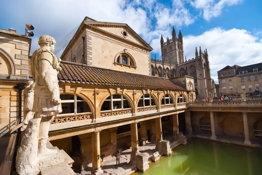 The Roman Baths in Bath UK