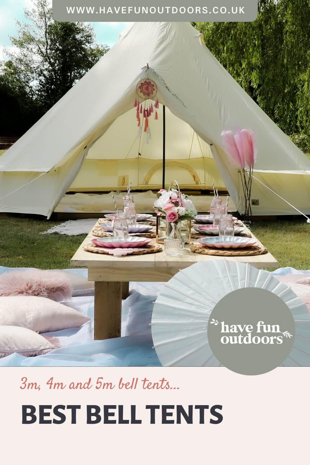 Best Bell Tents, 3m, 4m and 5m Bell Tents
