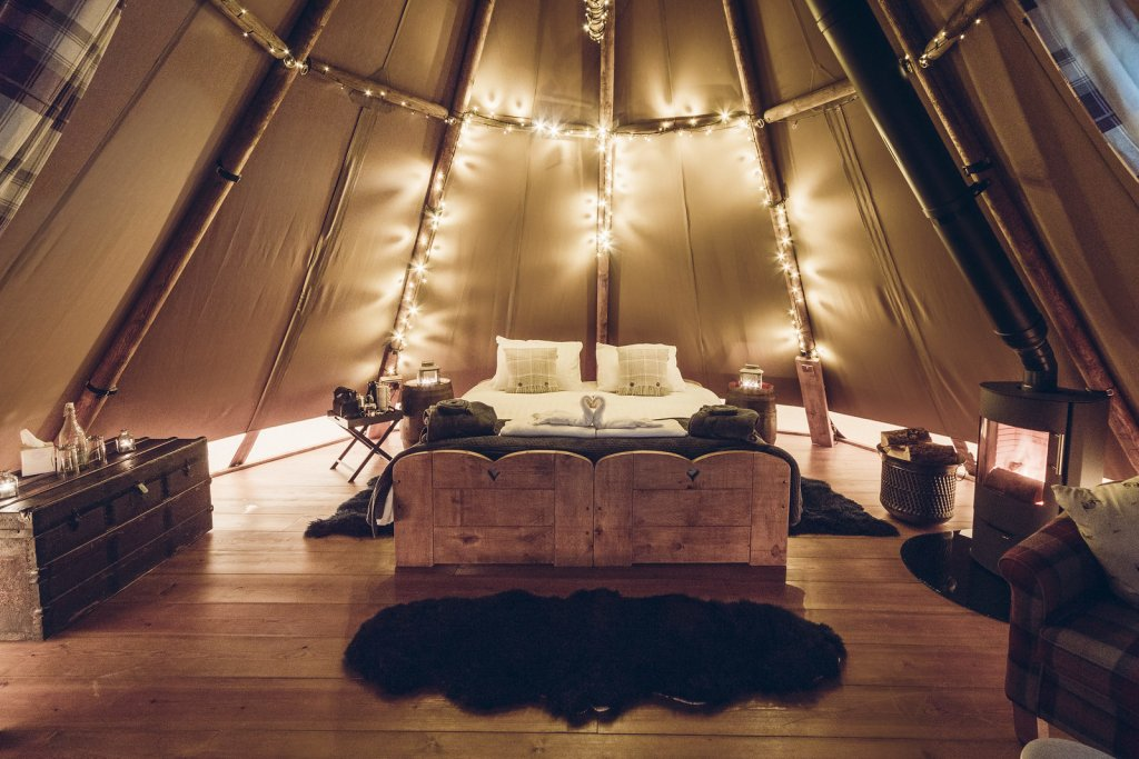 Hartington Tipi offers a luxury glamping experience in the Peak District