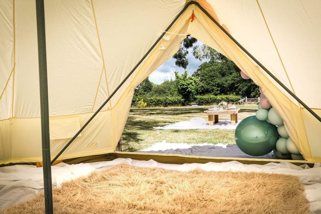 Inside Best Bell Tents
