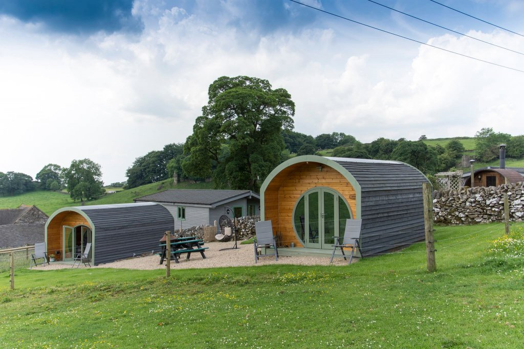 Skylark and Swallow Eco Glamping Pods in the Peak District