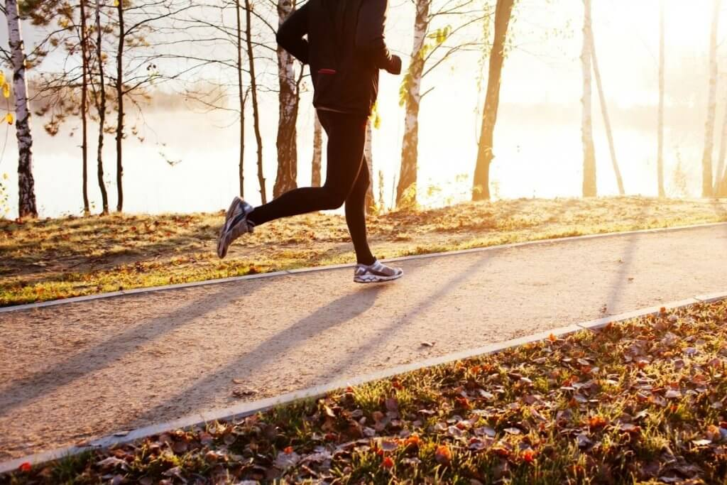 Walking or running outdoors can help relieve stress and anxiety