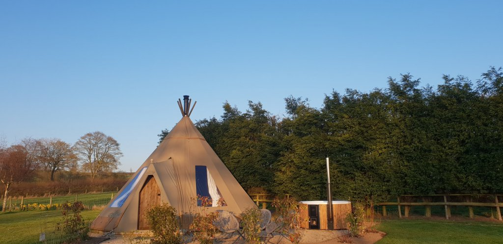 Hartington Tipi glamping in the Peak District