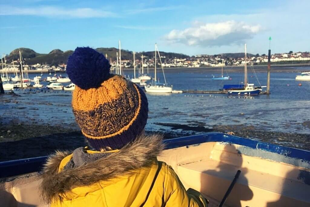Visiting Conwy Beach is one of our favourite things to do in North Wales with kids