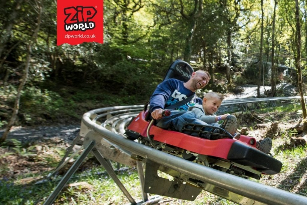 Zip World Fforest is a fun day out with the kids in North Wales