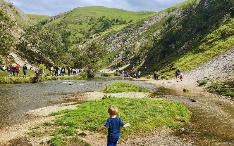 Enjoy the Dovedale Stepping Stones as part of a family walk in the Peak District