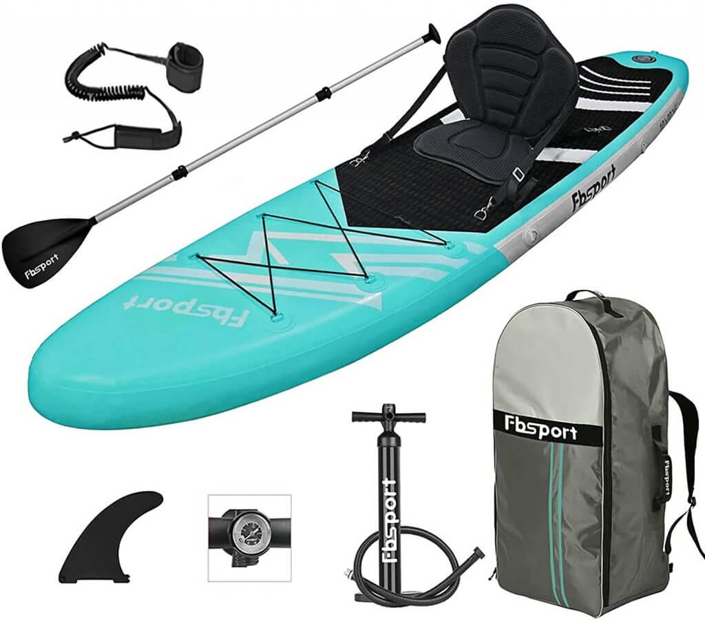 Fbspory Stand Up Inflatable Paddle Board For Beginners