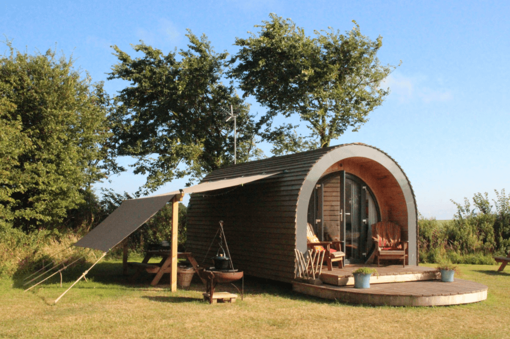 Luxury Glamping pod by the sea