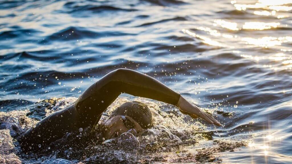 Lake District open water swimmer