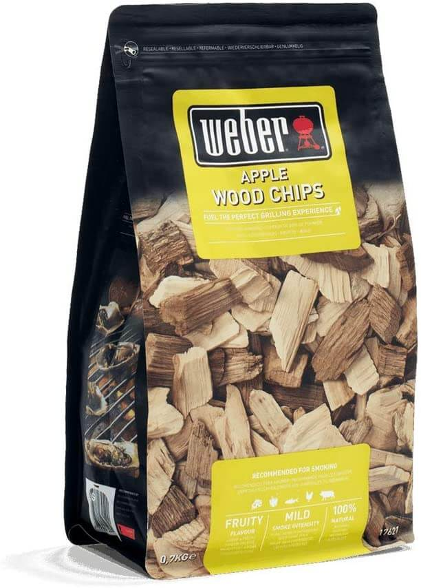 Weber Apple Wood Chips For A Pizza Oven