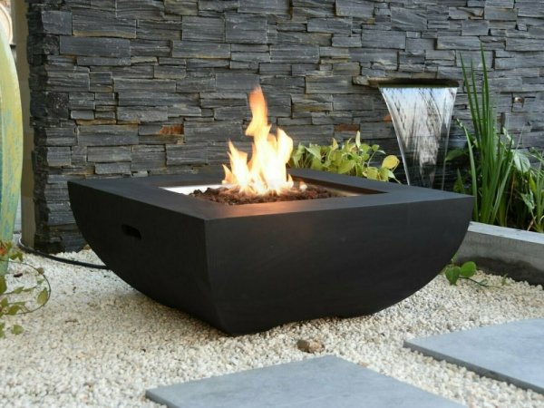 Aurora Black Fire Pit Table