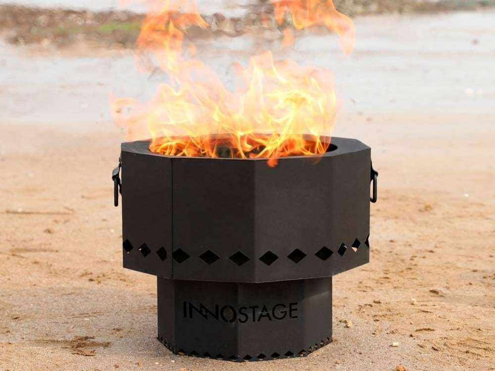 Smokeless Portable Camping Fire Pit & BBQ